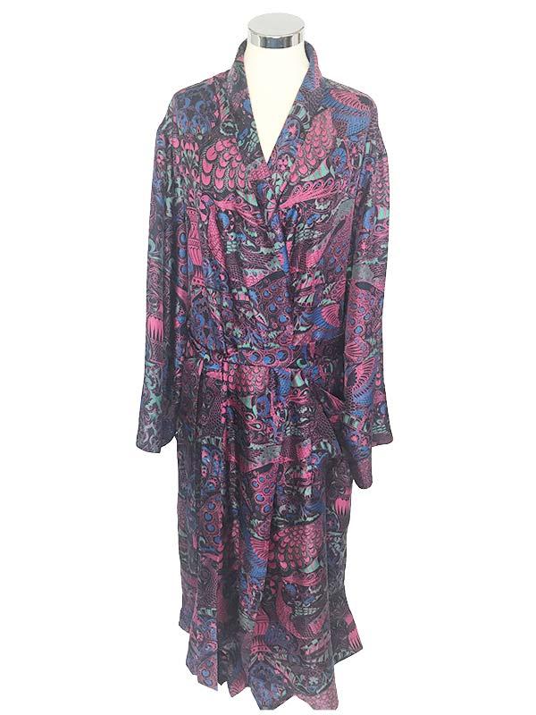454ac6a7b9 Silk Dressing Gown - Peacock – Beckford Silk