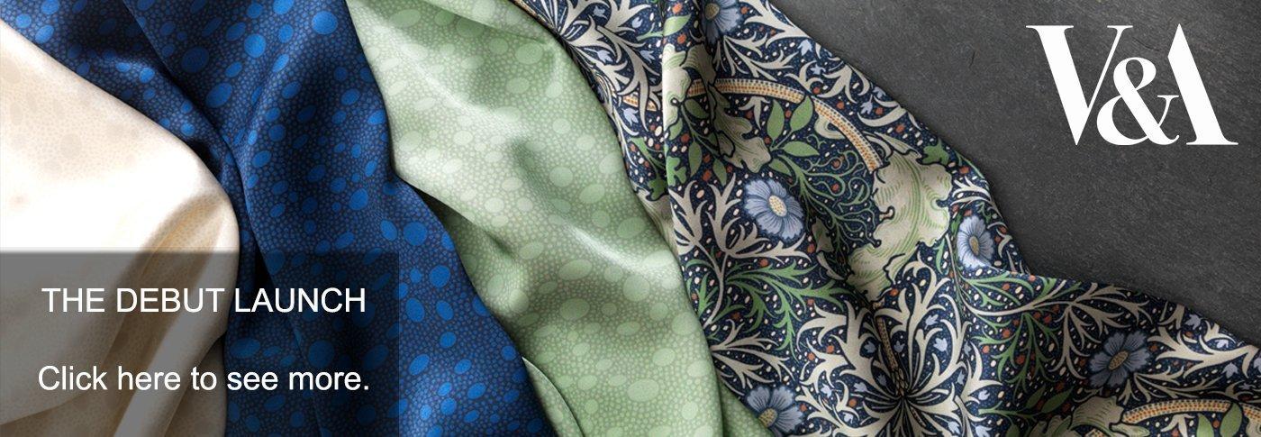 Victoria and Albert Museum silk fabric collaboration