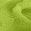 Silk Jacquard - Paisley - Lime (Dyed To Order)